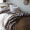 Linen Whisper Queen Duvet Cover in Pebble, Pennelope Euro Shams with Ruching in Pebble, Linen Whisper Standard Shams in Winter White, Pennelope Standard Sham with Ruching in French Grey, Linen Queen Fitted Sheet in Winter White, Linen Queen Flat Sheet in Winter White, Linen Queen Dust Ruffle in Winter White, Linen Whisper Queen Bed Scarf in French Grey, Linen Whisper Kidney Pillow in French Grey, Pennelope Personal Comforter in French Grey, Loulah Throw Blanket in Winter White