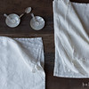 Linen Placemats in Winter White, Homespun Napkins in Winter White