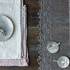 Homespun Placemats in Winter White, Homespun Placemats in Heirloom Rose, Olivia Tablecloth in French Grey