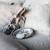 Lillian Accent Pillow in Cloud, Marguerite Accent Pillow in Cloud, Marguerite Accent Pillow in Fog, Marguerite Coverlet in Cloud, Linen Whisper Duvet Cover in Fog