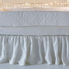 Chesapeake Bumper in White, Linen Crib Sheet in White, Linen Crib Skirt in White