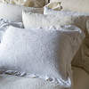 Florence Deluxe Shams in Champagne, Gabriella Euro Sham in Champagne, Linen Whisper Pillowcase in White, Gabriella Pillowcase in Champagne, Florence Standard Sham in White