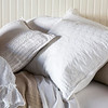 Capri Bolster in Sand, June Standard Shams in White, Capri Accent Pillow in White, Linen Whisper Pillowcase in White, Trecento Fitted & Flat Sheet in White, Capri Coverlet in Sand