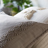 Capri Standard Sham in Winter White, Capri Accent Pillow in Fog