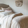 Lillian Deluxe Shams in Sand, Lillian Euro Shams in Champagne, Lillian Standard Sham in Heirloom Rose, Olivia Pillowcase in Sand over Satin Pillowcase in Champagne, Josephine Accent Pillows in Sand, Linen Fitted & Flat Sheet in Champagne, Lillian Duvet Cover in Sand, Linen Bed Skirt in Champagne