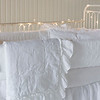 Chesapeake Bumper in White, Linen Whisper Baby Blanket in White, Linen Whisper Kidney Pillow in White, Linen Crib Sheet in White, Linen Crib Skirt in White