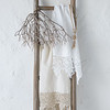 Frida Guest Towel in White, Frida Guest Towel in Parchment