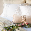 Adele Royal Shams in Parchment, Frida Deluxe Shams in White, Carmen Kidney Pillow in Pearl, Frida King Duvet Cover in White, Carmen Personal Comforter in Parchment