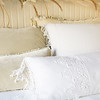 Loulah Deluxe Shams in Parchment, Frida Euro Sham in White, Carmen Lumbar Pillow in Parchment, Frida Lumbar Pillow in White