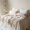 Seville Royal Shams In Winter White, Linen King Pillowcases In Pearl, <br /> Seville King Coverlet In Winter White, Valentina Wedding Blanket In Pearl