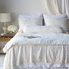Seville Royal Shams in White, Seville Embroidered Deluxe Shams in Winter White, Antonia Bolster in Winter White, Seville Coverlet in White, Antonia Coverlet in Winter White, Seville Embroidered Large Throw Blanket in Winter White, Seville Bed Skirt in White, Antonia Curtain Panel with Scalloped Edge in Winter White, Linen Curtain Panel in White