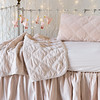 Marseille Baby Blanket in Pearl, Marseille Accent in Pearl, Trecento Crib Sheet in Pearl, Helane Crib Skirt in Pearl