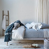 Florence Deluxe Shams In Mineral, Josephine Linen Standard Pillowcase In Winter White, Helane Kidney Pillows In Winter White, Florence Queen Coverlet In Mineral, Josephine Linen Queen Duvet Cover In Winter White, Antonia Bolster In Mineral, Sloan  Large Throw Blanket In Mineral, Linen Queen Fitted Sheet In Winter White, Linen Whisper Curtain Panels In Winter White, Linen Whisper Apparel Scarf In White