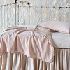 Helane Accent Pillow in Pearl, Helane Baby Blanket in Pearl, Madera Luxe Crib Sheet in Pearl, Satin Crib Skirt in Pearl