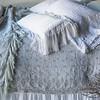 Valentina Deluxe Shams In Cloud, Valentina Standard Sham In Cloud <br /> Antonia Standard Pillowcase In White, Antonia Queen Coverlet In Cloud, <br /> Linen Whisper Queen Duvet Cover In White, Valentina Personal Comforter In Seaglass, Valentina Kidney Pillow In White