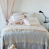 Seville Euro Shams In Sand, Olivia Linen Standard Pillowcases In Pearl, Madera Luxe Standard Pillowcases In Pearl, Loulah Kidney Pillow In Pearl, Valentina Kidney Pillow In Pearl, Valentina Personal Comforter In Pearl, Olivia Bed Scarf In Sand, Seville Coverlet In Fog, Linen Queen Bed Skirt In Pearl, Olivia Curtain Panels In Pearl