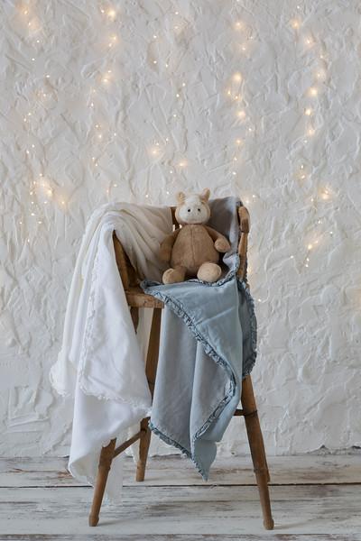 Helane Baby Blanket in Winter White, Helane Baby Blanket in White Helane Baby Blanket in Cloud