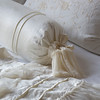 Seville Embroidered Deluxe Shams In Winter White, Valentina Bolster In Winter White, Seville King Coverlet In White, Valentina Wedding Blanket In Winter White