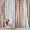 Linen Whisper Curtain With Ruffle In Pearl, Linen Whisper Curtain In Winter White, Antonia Curtain With All-Over Embroidery In White, Olivia Curtain In White, Antonia Curtain With All-Over Embroidery In Pearl, Olivia Curtain In Pearl, Antonia Curtain With Scalloped Edge In Winter White