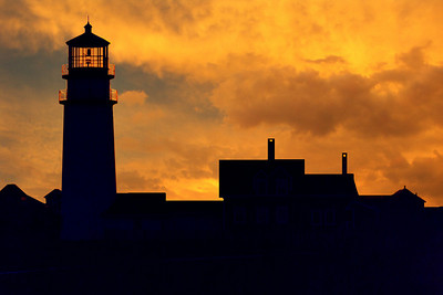Cape Cod Light Gold Sunset