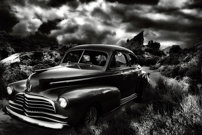 Storm Rider, many layers and images combined with Donnie VanZant of .38 Special as the driver :-)