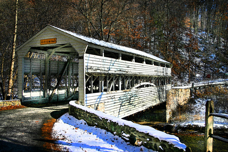 The Knox Covered Bridge built in 1865, Valley Forge National Park