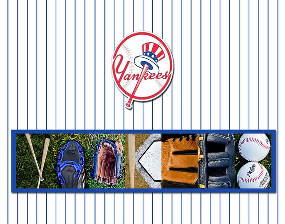 Yankees Stripes 11x14