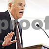 Beck Diefenbach  -  bdiefenbach@daily-chronicle.com<br /> <br /> Dr. Thomas Kirts, former director of psychiatric services at Kishwuakee Community Hospital, speaks against the closing of the inpatient mental health unit at the hospital during a hearing on the issue at the DeKalb Municipal Building in DeKalb, Ill., on Friday May 8, 2009.