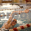 Beck Diefenbach  -  bdiefenbach@daily-chronicle.com<br /> <br /> DeKalb-Sycamore Co-op swim team's Chad Thompson during practice in the pool at DeKalb High School in DeKalb, Ill., on Friday Dec. 4, 2009.