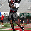 Beck Diefenbach  -  bdiefenbach@daily-chronicle.com<br /> <br /> Wide receiver Landon Cox (80) during practice at Huskie Stadium of Northern Illinois University in DeKalb, Ill., on Tuesday Sept. 1, 2009.