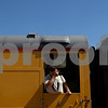 Beck Diefenbach  -  bdiefenbach@daily-chronicle.com<br /> <br /> A member of Operation Lifesaver takes a picture from the Union Pacific Safety Train, which is used for presentations concerning rail safety on Tuesday June 23, 2009.