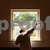 Beck Diefenbach  -  bdiefenbach@daily-chronicle.com<br /> <br /> Dan Griffith, of Dan's Custom Painting, paints a window inside the theater at Conexión Comunidad as part of the city-wide United Way event, Day of Caring, in DeKalb, Ill., on Thursday Sept. 10, 2009.