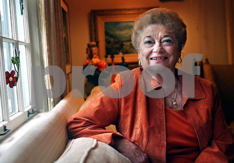 "Beck Diefenbach  -  bdiefenbach@daily-chronicle.com<br /> <br /> Marlyn Burkhart creator of ""Marlyn's Majors"" and ""Maryln's Majorettes,"" on Friday Jan. 23, 2009."