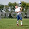 Rob Winner rwinner@daily-chronicle.com<br /> Bernie Conley of Hinckley - Big Rock soccer controls a ball during a recent practice.<br /> 09/11/2009