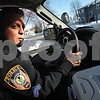 Beck Diefenbach  -  bdiefenbach@daily-chronicle.com<br /> <br /> Cpl. Joe Espy keeps a look out for homeless or displaced individuals while on patrol in DeKalb, Ill., on Friday Jan. 20, 2009.