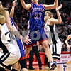 Beck Diefenbach – bdiefenbach@daily-chronicle.com<br /> <br /> Hinckley-Big Rock forward Tess Godhardt (33) jumps for a loose ball during the third quarter of the Class 1A IHSA State Basketball Championships against Winchester West Central High School at the Red Bird Arena in Normal, Ill., on Saturday Feb. 28, 2009.