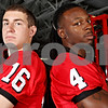 Rob Winner – rwinner@daily-chronicle.com<br /> Mike Salerno (left) kicker and David Bryant safety<br /> NIU Football<br /> 08/07/2009