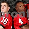 Rob Winner – rwinner@daily-chronicle.com<br /> Mike Salerno (left) kicker and David Bryant safety<br /> NIU Football<br /> 08/07/2009
