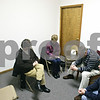 Beck Diefenbach  -  bdiefenbach@daily-chronicle.com<br /> <br /> From left, Sandra Davis, Linda Abel, Pastor Dean Pierce and Penny Rice, all of DeKalb, participate in the Sweet Hour of Prayer group session at Wesleyan Church of DeKalb in DeKalb, Ill., on Wednesday Jan. 14, 2008.