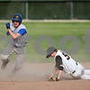 Beck Diefenbach  -  bdiefenbach@daily-chronicle.com<br /> <br /> Geneva's Sean Grady (11) heads for third base after DeKalb's Steven Karasewski (5) misses the throw during the top of the third inning at Dekalb High School in DeKalb, Ill., on Tuesday May 12, 2009.