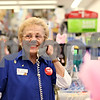 "Beck Diefenbach  -  bdiefenbach@daily-chronicle.com<br /> <br /> ""Come on over to Grandma,"" Audrey Bundy says when there is no line at her counter in cosmetics at Walgreens in Sycamore, Ill., on Friday Oct. 9, 2009."