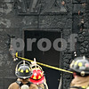 Beck Diefenbach  -  bdiefenbach@daily-chronicle.com<br /> <br /> Firefighters stand in front of the fire damaged Omega Delta Fraternity house on the 800 block of Hillcrest Road in DeKalb, Ill.