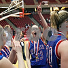 Beck Diefenbach – bdiefenbach@daily-chronicle.com<br /> <br /> Hinckley-Big Rock's Alyssa Baunach celebrates after defeating Winchester West Central in the Class 1A State Championship at the Redbird Arena in Normal, Ill., on Saturday Feb. 28, 2009.
