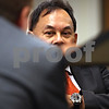 Beck Diefenbach  -  bdiefenbach@daily-chronicle.com<br /> <br /> Thailand foreign minister Kasit Piromya waits to speak to students, faculty and staff on the campus of Northern Illinois University on Monday Sept. 28, 2009.