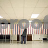 Beck Diefenbach  -  bdiefenbach@daily-chronicle.com<br /> <br /> Jonathan Lowe, of DeKalb, fills out his ballot sheet at First United Methodist Church in DeKalb, Ill., on Tuesday April 7, 2009.