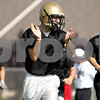 Rob Winner – rwinner@daily-chronicle.com<br /> Trevor Matthews reacts after a drill during Sycamore's first practice.<br /> 08/12/2009