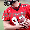 Beck Diefenbach  -  bdiefenbach@daily-chronicle.com<br /> <br /> Northern Illinois' Adam Coleman (93) during practice at NIU's Huskie Stadium in DeKalb, Ill., on Tuesday March 24, 2009.