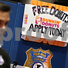 Beck Diefenbach – bdiefenbach@daily-chronicle.com<br /> <br /> The Peoria Police Department display their technique in attracting applicants at the job fair at the Northern Illinois University Convocation Center in DeKalb, Ill., on Wednesday Feb. 25, 2009.