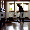 Beck Diefenbach  -  bdiefenbach@daily-chronicle.com<br /> <br /> Custodian Jim Smith buffs the floors at Hiawatha Elementary School in Kirkland, Ill., on Friday March 27, 2009. Some of the floor tiles contain asbestos. The sealed tiles are safe, but to be removed requires extra safety precautions.