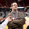 Beck Diefenbach – bdiefenbach@daily-chronicle.com<br /> <br /> Hinckley-Big Rock head coach Greg Burks talks with reporters after defeating Winchester West Central in the Class 1A State Championship at the Redbird Arena in Normal, Ill., on Saturday Feb. 28, 2009.